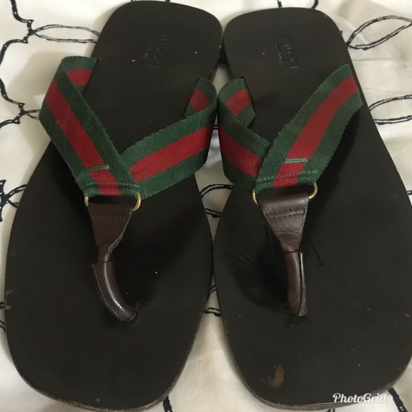 01d7fd369105 Gucci Shoes - Gucci ❤ GG Line Signature Web Thong Sandal